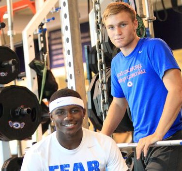 Tyjon Lindsey (seated) and Tate Martell were stars for the Gaels all season (Photo: Greg Cava)