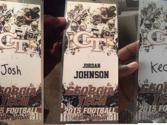 A compiled photo of the three tickets. Johnson's ticket is in the middle, his brother on the left, and on the right. (Photo: Provided to First Coast News)