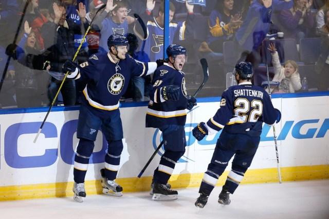 The St. Louis Blues have plenty to celebrate. (AP Photo/Scott Kane)