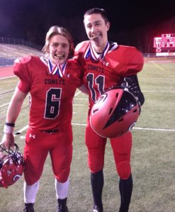 Connor Sheloski (right) and Crestwood teammate Tanner Kahlau smile for the camera. (Twitter)