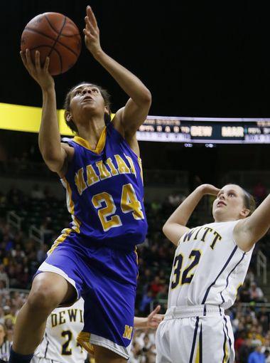 Bailey Thomas, shown playing for Michigan state champion Bloomfield Hills Marian, has transferred to Centennial. (Photo: Julian H. Gonzalez, Detroit Free Press)