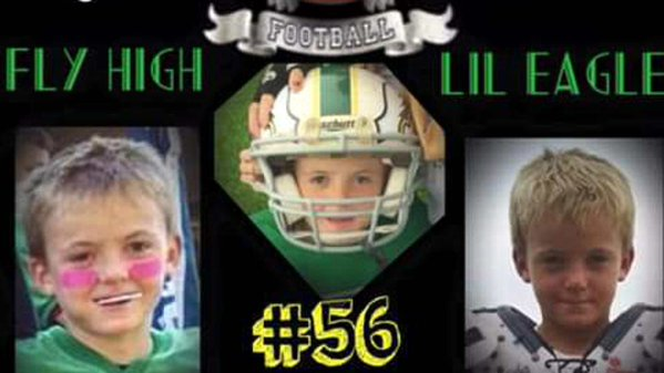 Wyatt Barber died after collapsing at a football practice. He wast just 9 years old (Photo: Twitter)