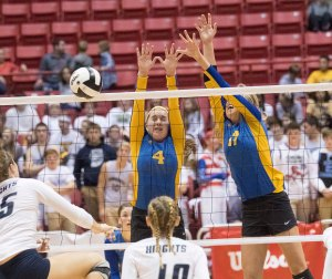 The Lafayette Central Catholic volleyball team fell short of the perfect season after their loss to Christian Academy of Indiana in the Class A State Championship. The Knights lost in 5 sets, ending their season with a record of 39 - 1.