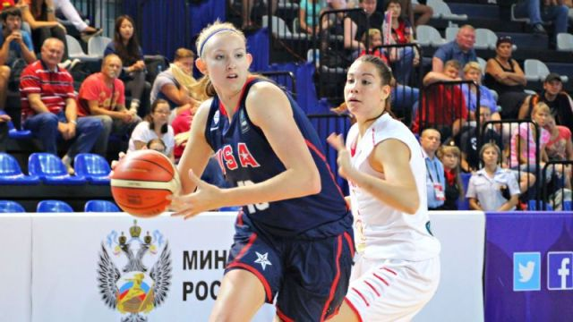 Lauren Cox's go-to move can't be stopped. (Photo: USA Basketball)
