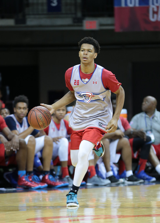 Trevon Duval's A.I. crossover can't be stopped. (Photo by Kelly Kline/Under Armour)""