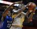Montverde Academy forward Simi Shittu goes to the basket as he is guarded by Dillard's Joniya Gadson (Robert Duyos, USA TODAY Sports Images)