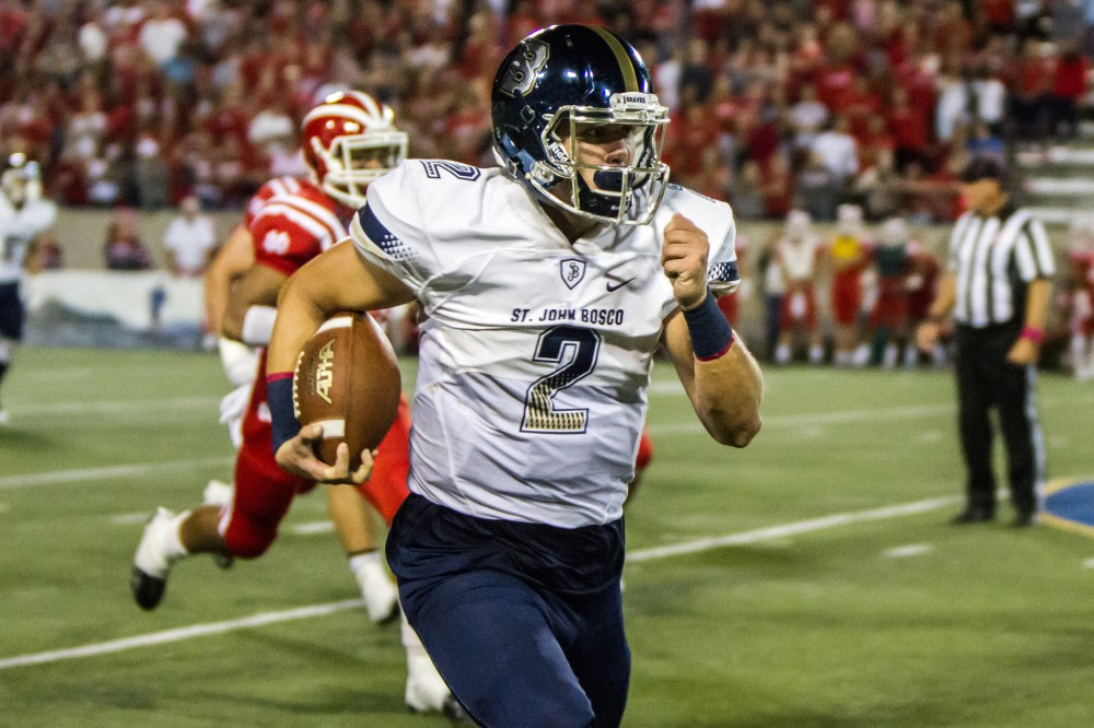 St. John Bosco quarterback Quentin Davis has thrown for 3,547 yards and 39 touchdowns with only two interceptions. (Photo: Erica Cosce Sabin).