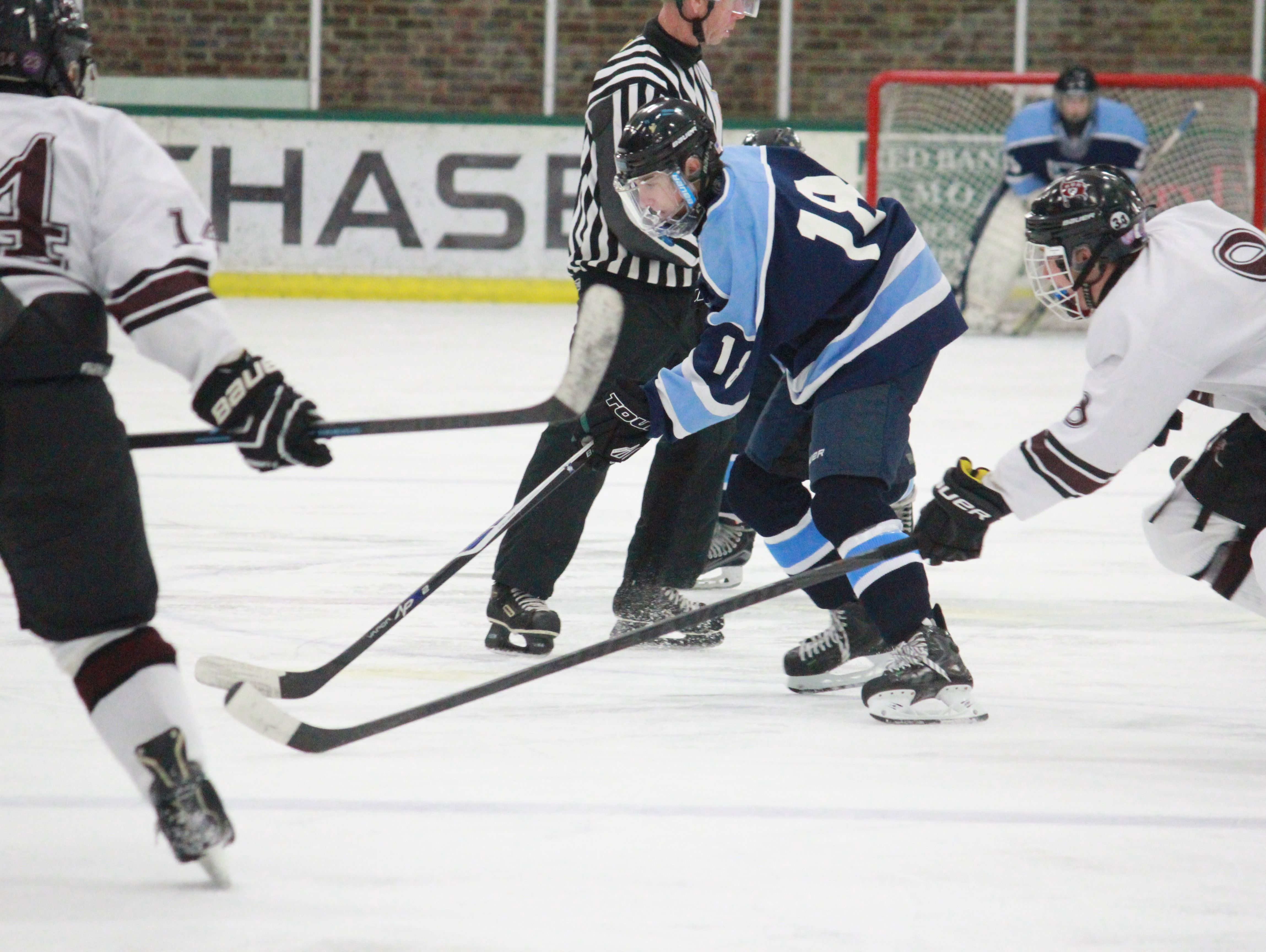 Max Halvorsen (18) scored six goal in Freehold Township's 8-5 win over Red Bank. (Photo: Asbury Park Press)