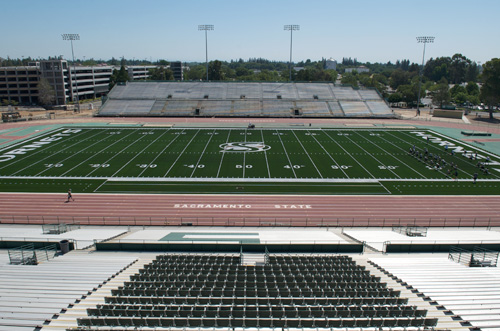 Sacramento State played host to the California state title games but saw a significant decline in attendance (Photo: Sacramento State Athletics)