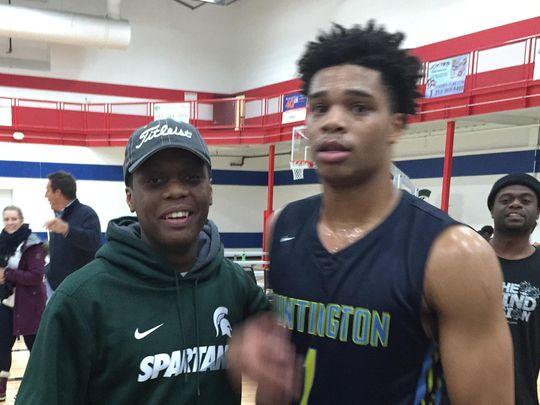 Cassius Winston (left) and Miles Bridges are both heading to Michigan State (Photo: Mick McCabe, Detroit Free Press)
