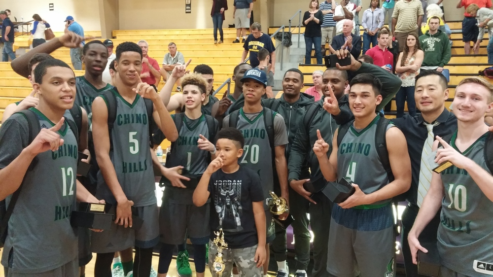Chino Hills, Calif., defeated The Patrick School (Elizabeth, N.J.) 66-60 in overtime to win the City of Palms Classic Wednesday in Fort Myers. (Photo: JIm Halley, USA TODAY Sports)