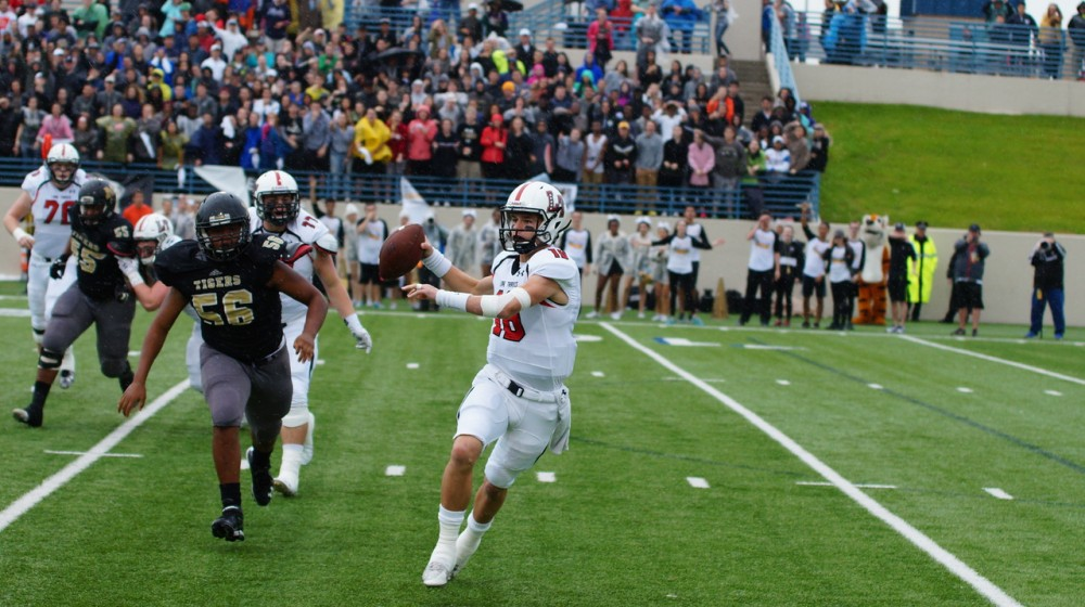 Charlie Brewer threw three touchdown passes to lead new No. 14 Lake Travis (Austin) to a 6A-II state semifinal defeat of Mansfield. (Photo: Lake Travis Football, Todd Patterson).
