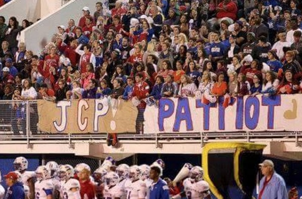 John Curtis football fans (Photo: Facebook)