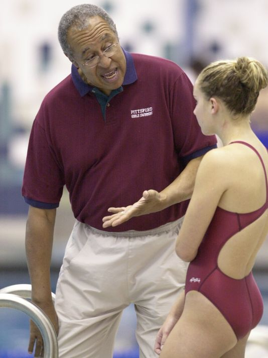 Pittsford girls swim coach Marty Keating has been coaching the sport for 42 years. (Photo: Democrat & Chronicle)
