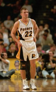 Indiana Pacers' Damon Bailey, shown in this Oct. 1995 file photo, is among those against the proposed IHSAA change to multi-class tournaments. Bailey, the 1990 Mr. Basketball at state champion Bedford North Lawrence, says that he thinks it's going to hurt high school basketball. (AP Photo/Tom Strattman)