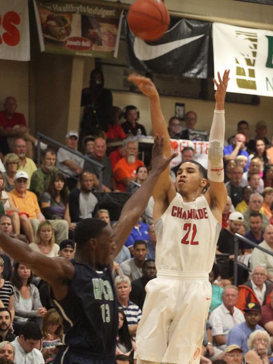 Jayson Tatum and the Chaminade xxxx have played eight teams who have spent time this season in the Super 25. (Photo: Jack Hardman/The Fort Myers News-Press)