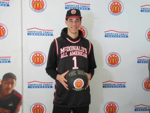 Lonzo Ball was the mos dominant player in HS hoops. (Photo: McDonald's All American Game)