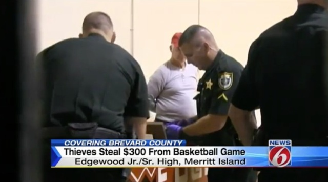 A pair of thieves robbed the ticket booth at a high school basketball game in Central Florida (Photo: WKMG)