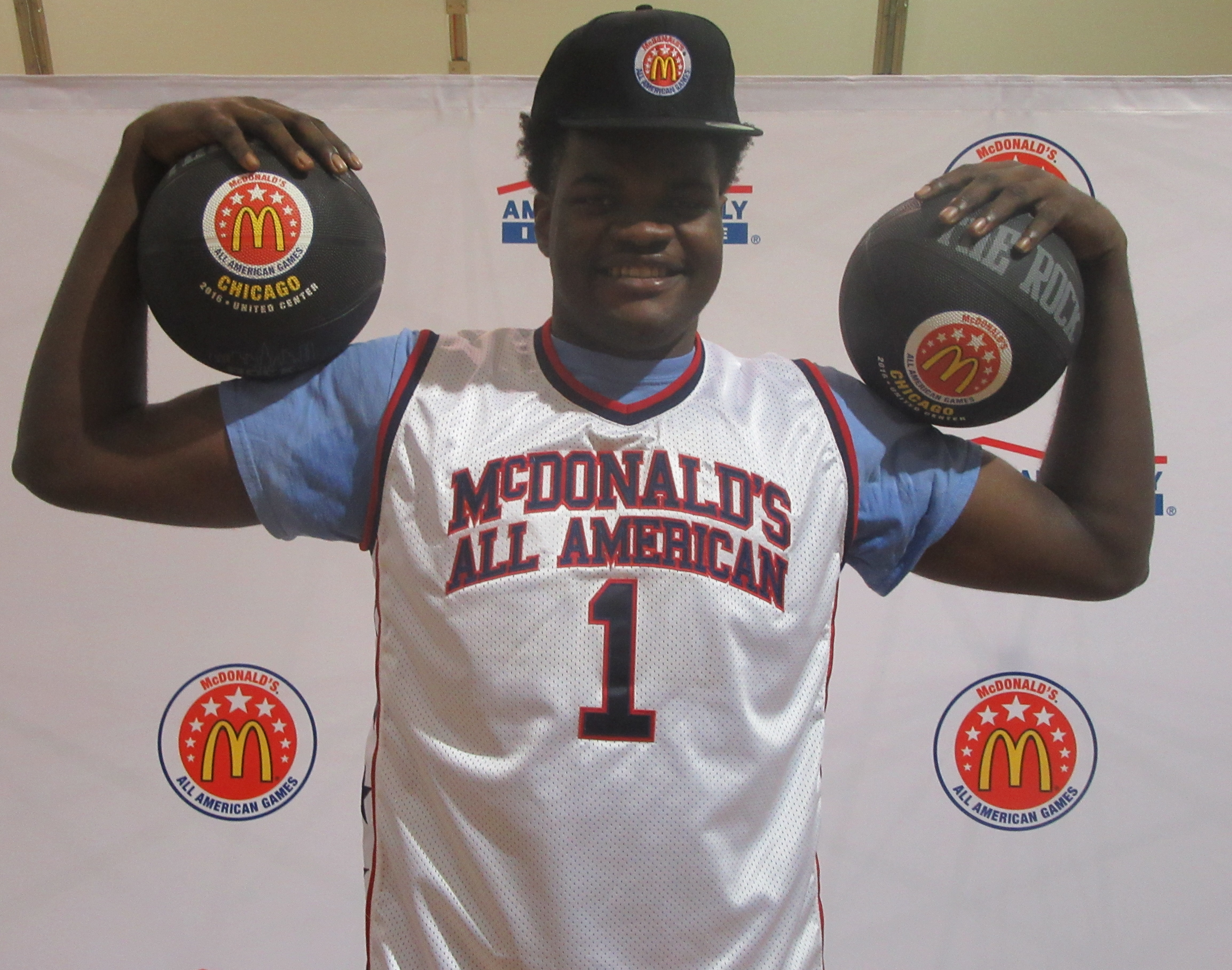 Udoka Azubuike is a strong post presence. (Photo: McDonald's All American Game)