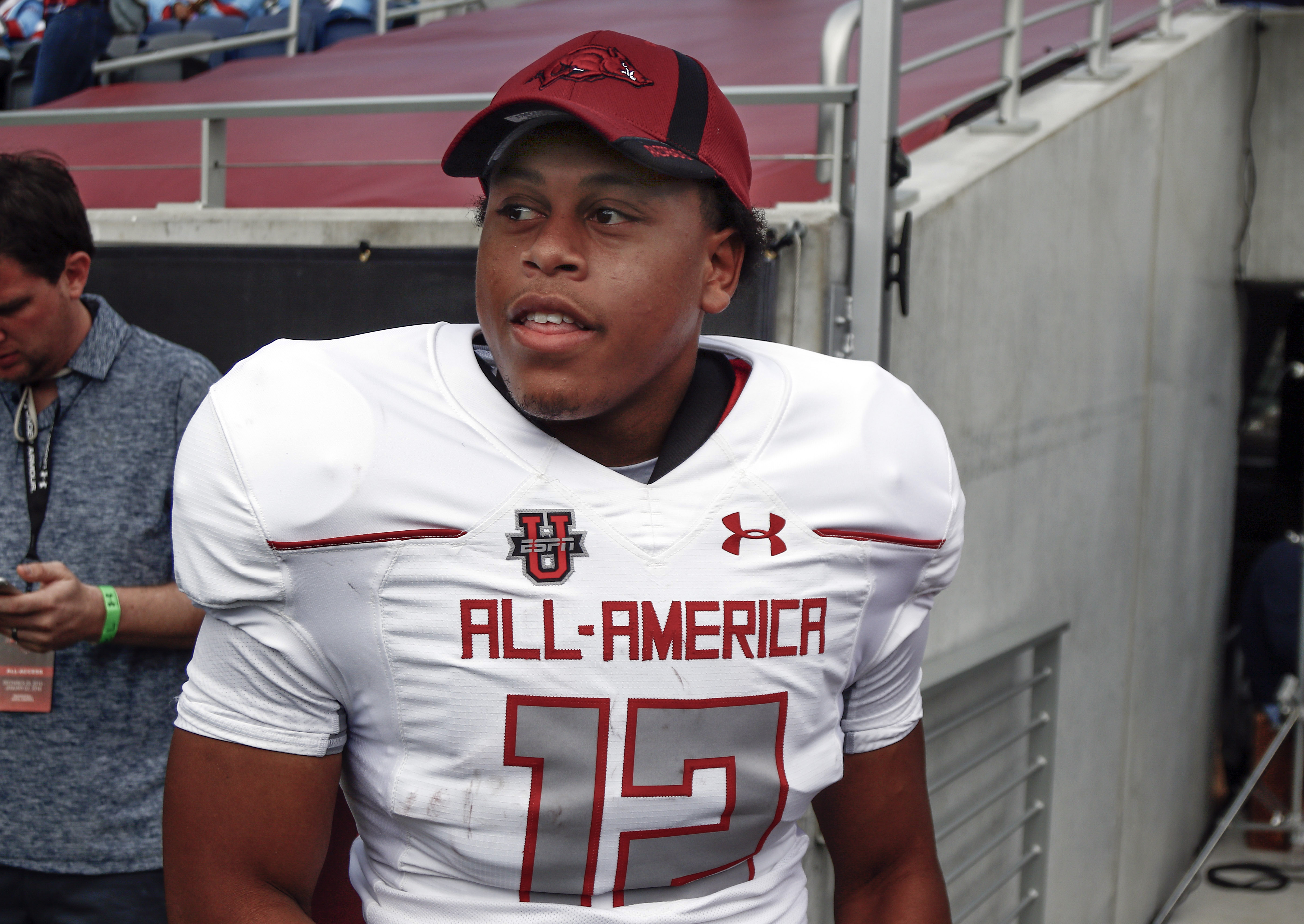 Devwah Whaley announced he would attend Arkansas at the Under Armour All American Game (Photo: Reinhold Matay, USA TODAY Sports)