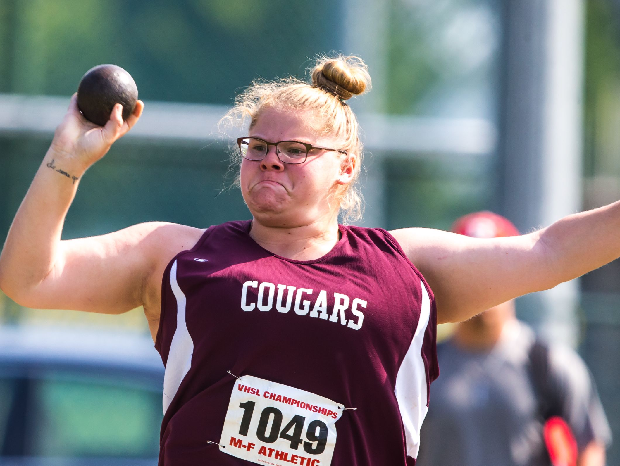 Stuarts Draft's Paetyn Beverly won the shot put at the 1A/2A indoor track championships Thursday in Lynchburg.