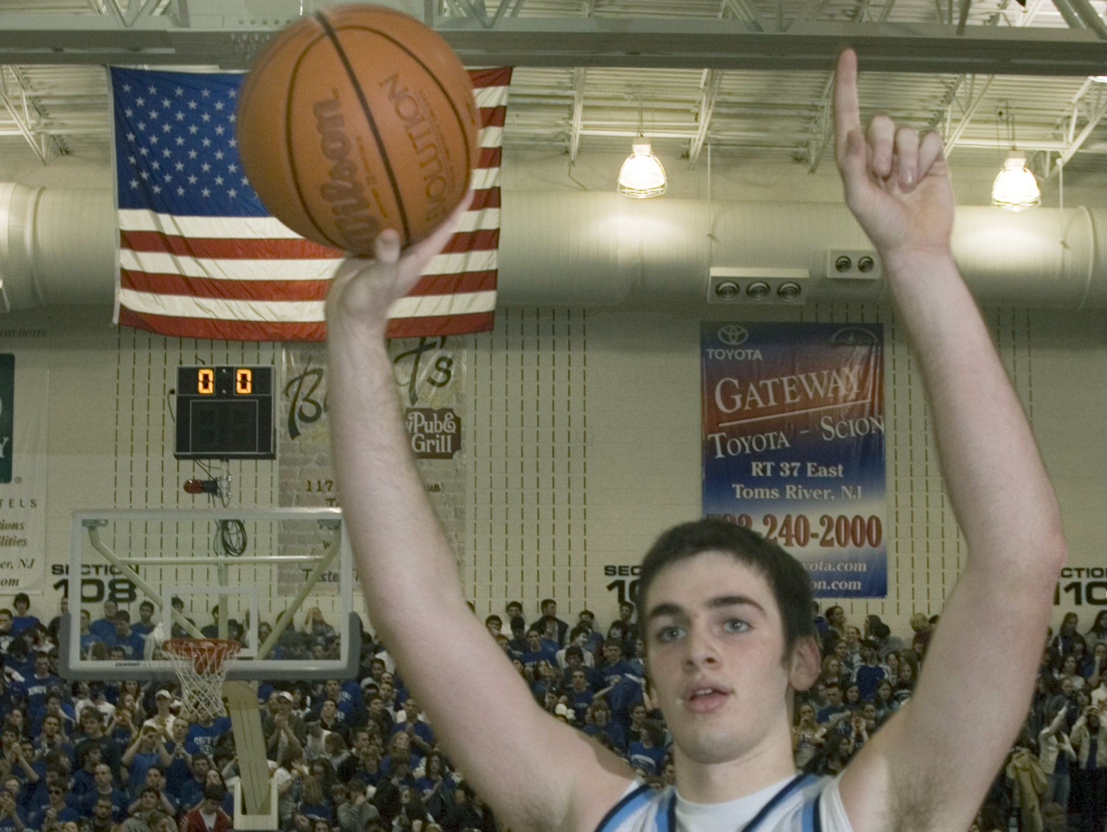 CBA'sTim Andree celebrates after his team defeated Monsignor Donovan in the 2006 Shore Conference Tournament final. His younger brother, Pat, leads the Colts into this year's SCT final against Rumson-Fair Haven.