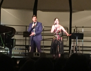 Voytko and Cudia performing at Broadway in the Burgh event this past week (Kayla Snyder)