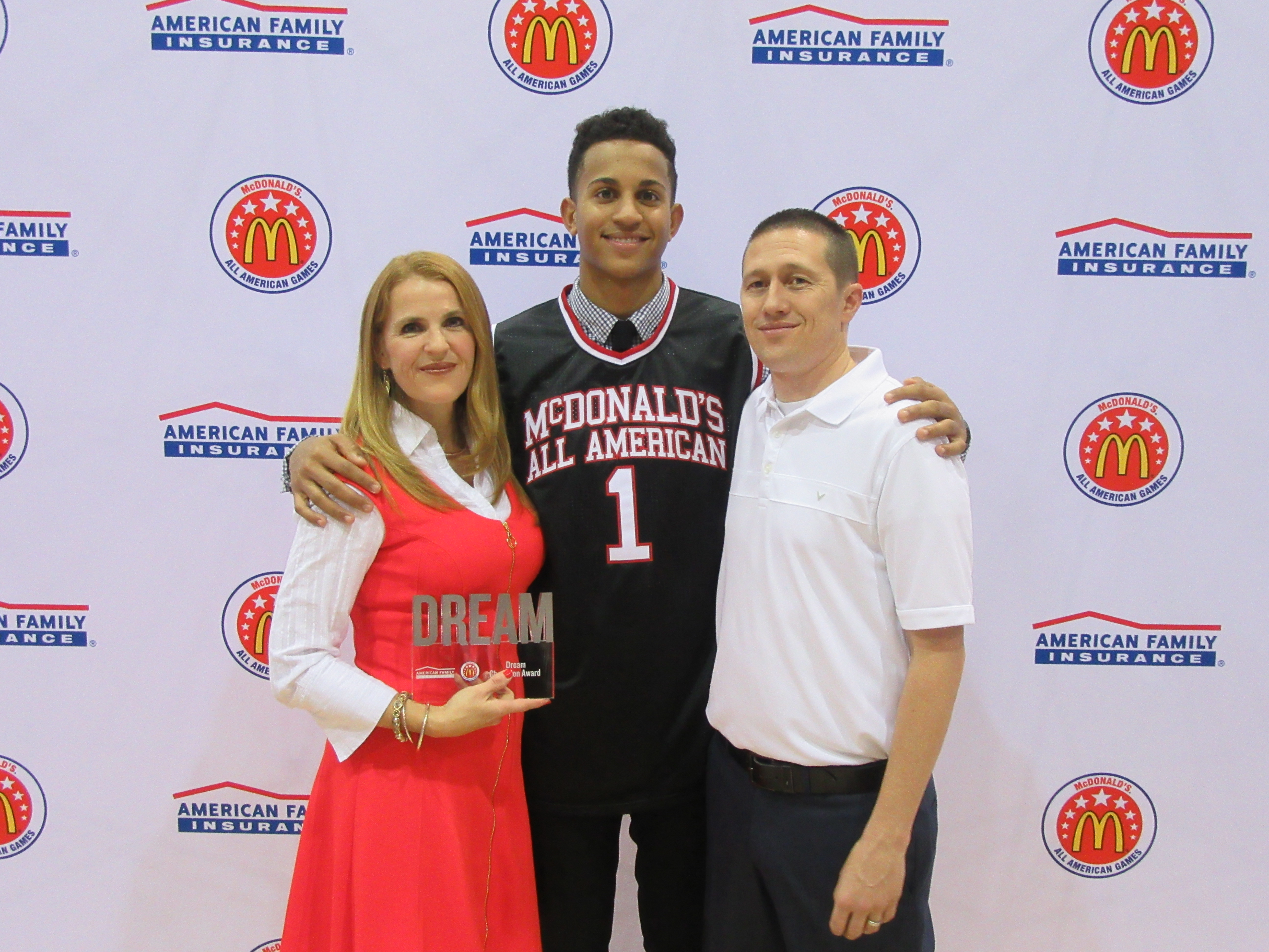 Frank Jackson after he received his honorary McDonald's All American jersey (Photo: McDonald's All American Game)