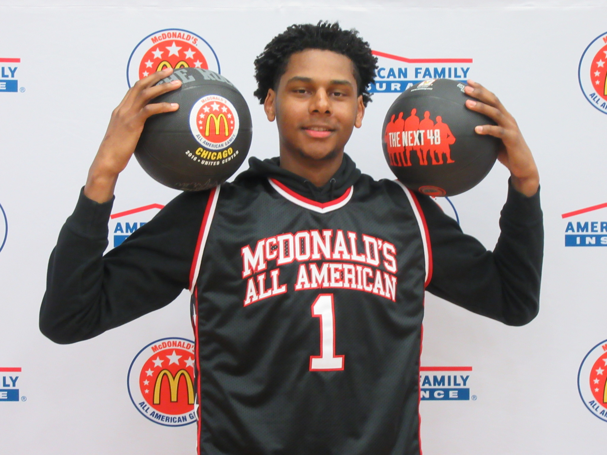Marques Bolden began his athletic career as a football player. (Photo: McDonald's All American Game)