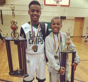 LeBron Jr. and Bryce James both won their age group divisions at the Ohio Showcase with the North Gulf Coast Blue Chips (Photo: Instagram)