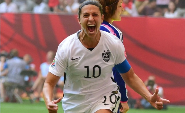 Carli Lloyd's rise to the universally accepted best player in women's soccer came from a wealth of hard work, which has made her an ideal role model for young female athletes (Photo: USA TODAY Sports Images)