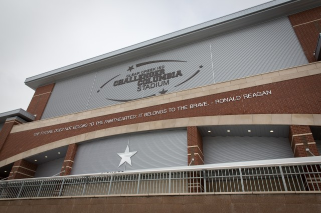 The Clear Creek Independent School District in League City, Texas, unveiled Challenger Columbia Stadium in honor of NASA's 14 fallen crew members. (Clear Creek ISD)