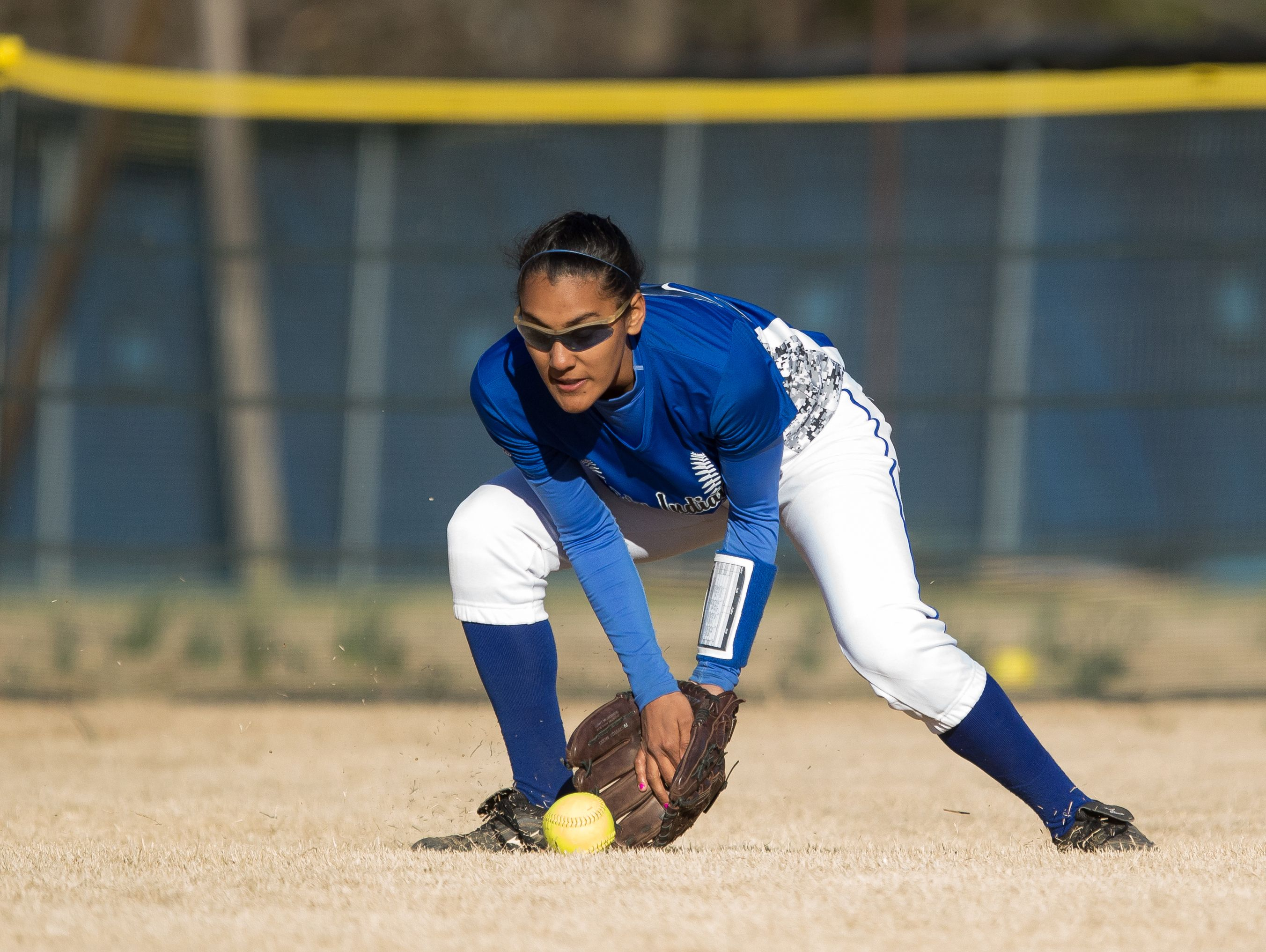 Center fielder Tiffany Taylor is one of three seniors on Fort Defiance's softball team this season.