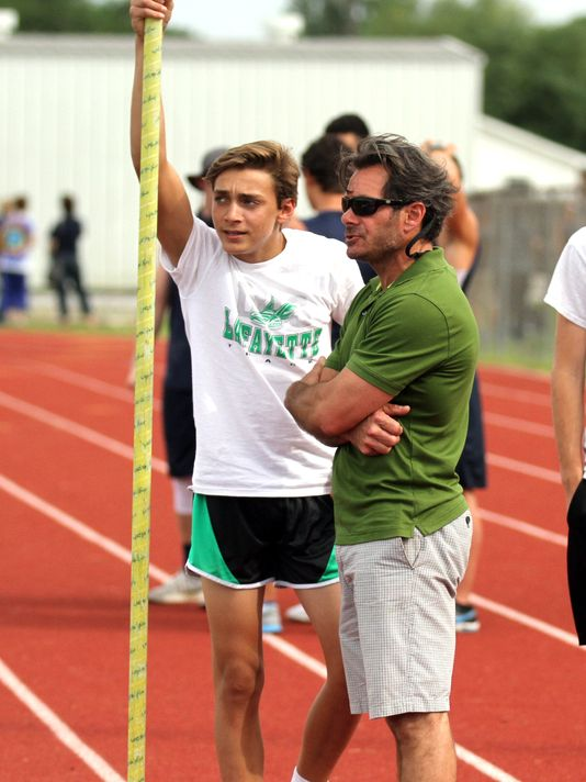 Armand Duplantis, shown with his father Greg (Photo: The Advertiser file photo)