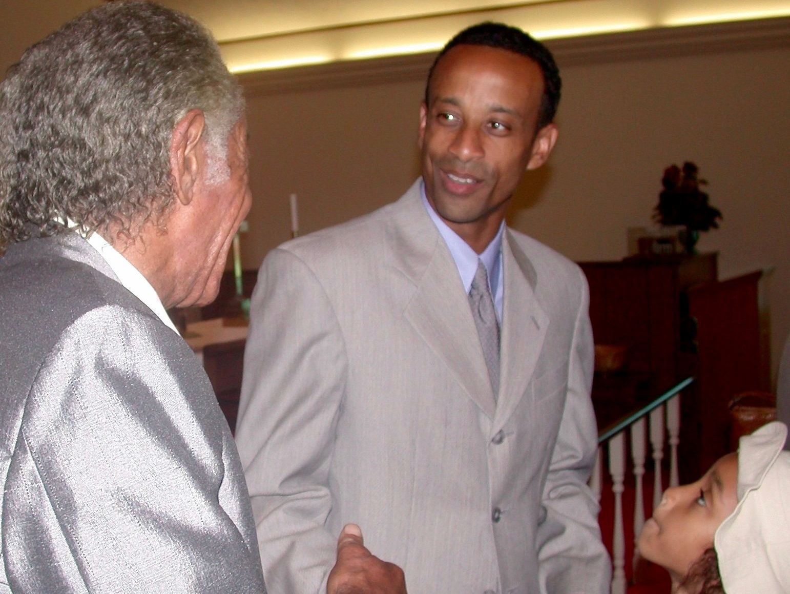 JMU women's basketball coach Kenny Brooks was the keynote speaker at the Waynesboro NAACP student banquet in 2003.