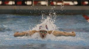 Christian Academy's Nicolas Albiero  won the Boys 100 Yard Butterfly event during the KHSAA Region 5 swim tournament. Feb. 11, 2016