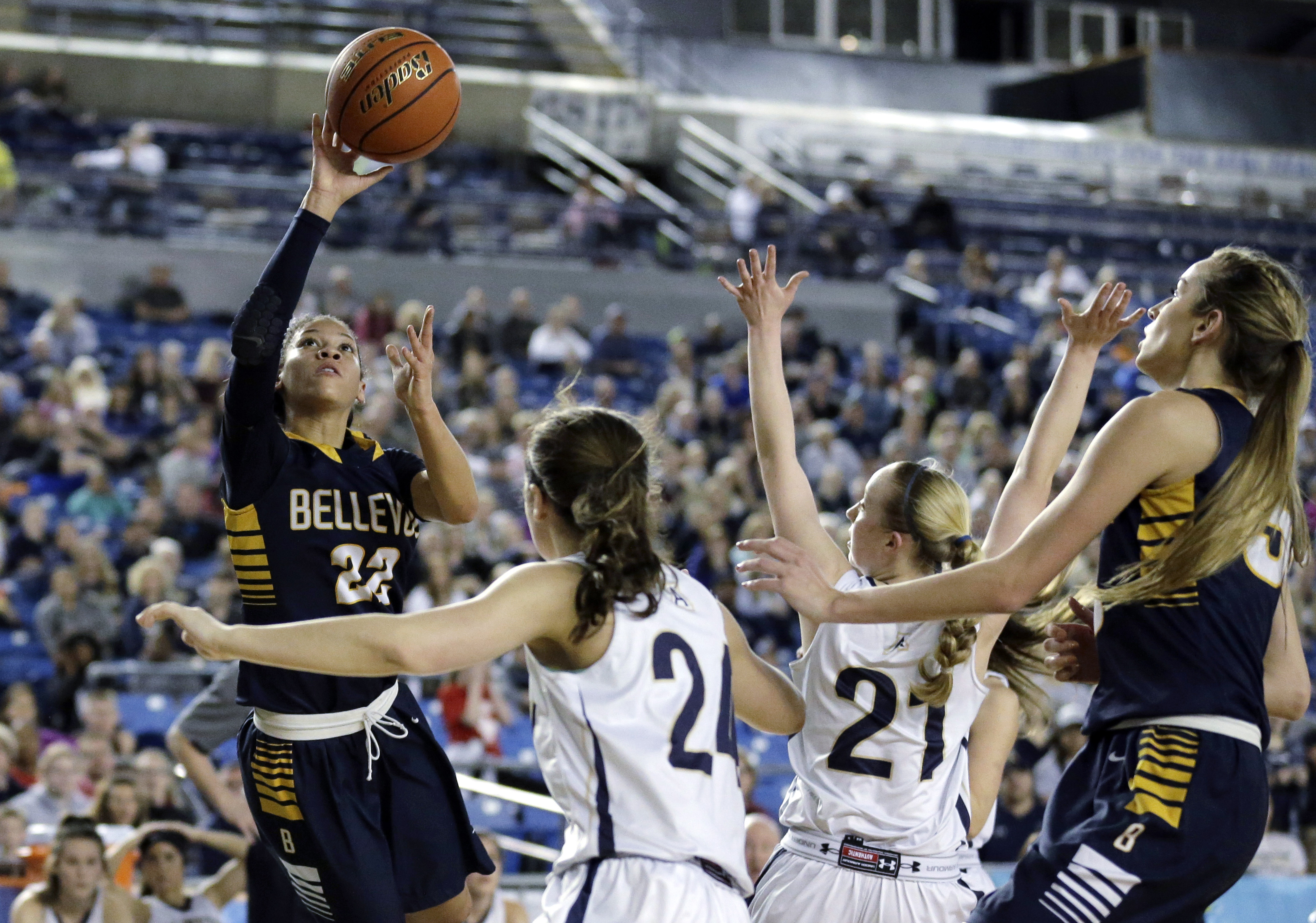 Anna Wilson led Bellevue (Wash.) High School to a state title earlier this month. (Photo: AP)