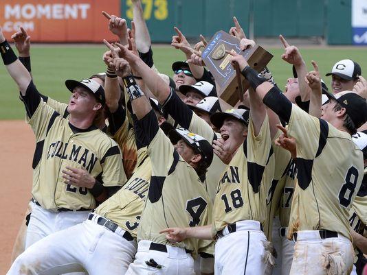 Cullman players salute their fans after winning the AHSAA Class 6A baseball championship last season (Photo: Mark Almond, Associated Press)