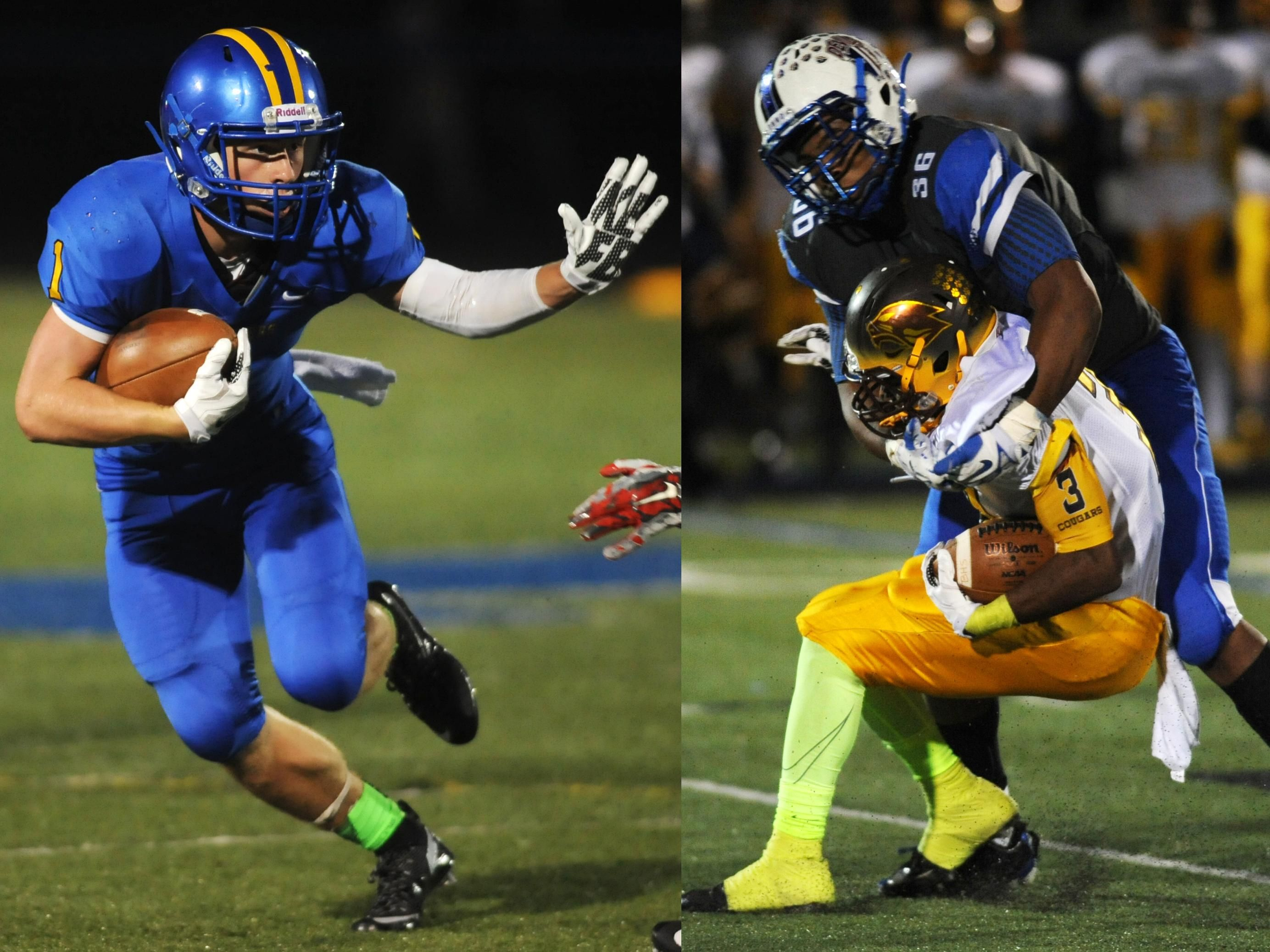 Maysville's Chase Roberts, left, is the Times Recorder's Prime Time offensive player of the year. Zanesville's Leondre Crosby, right, is the defensive player of the year.