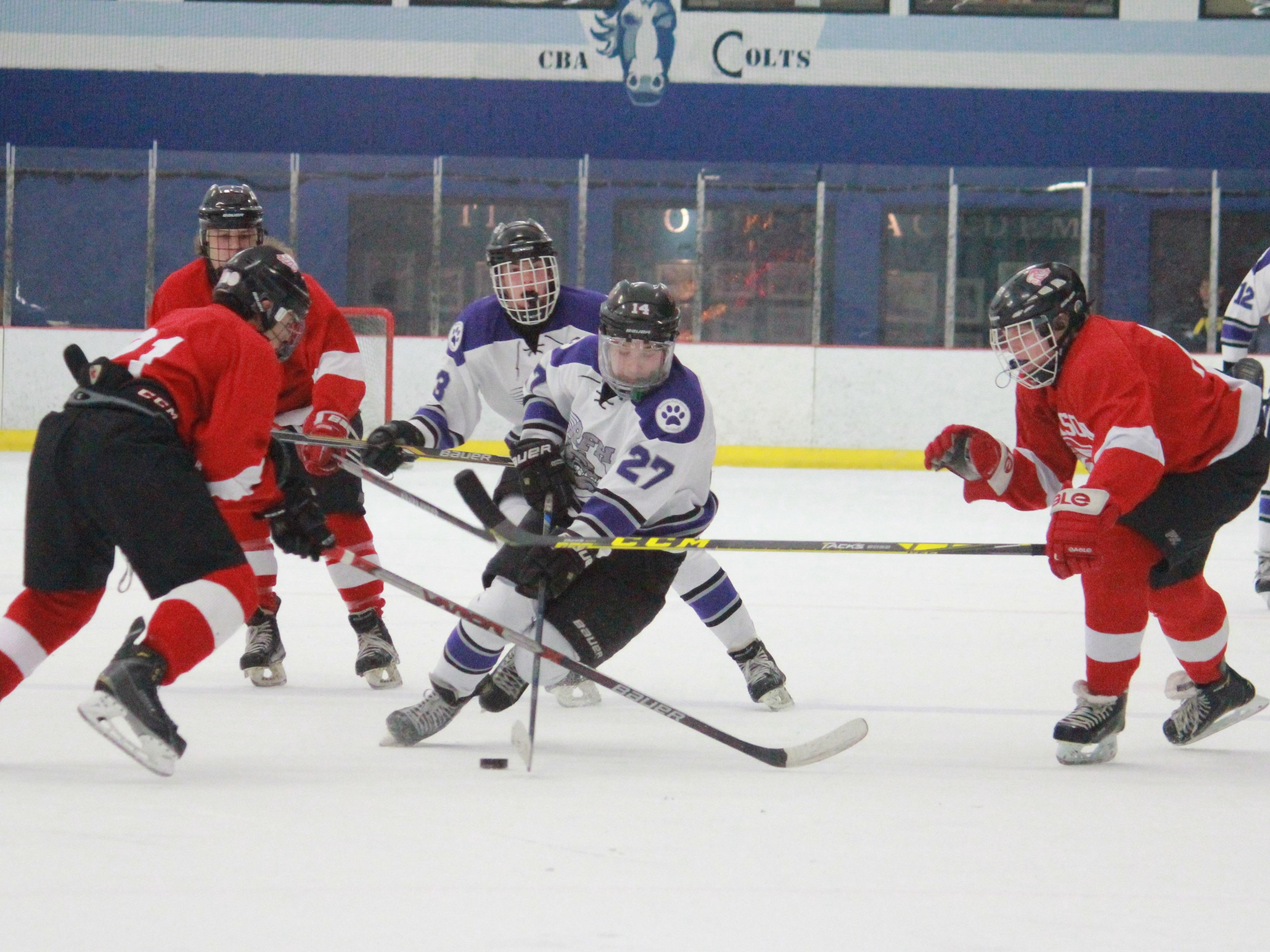 Brendan Ban (27) of Rumson leads the conference in scoring.