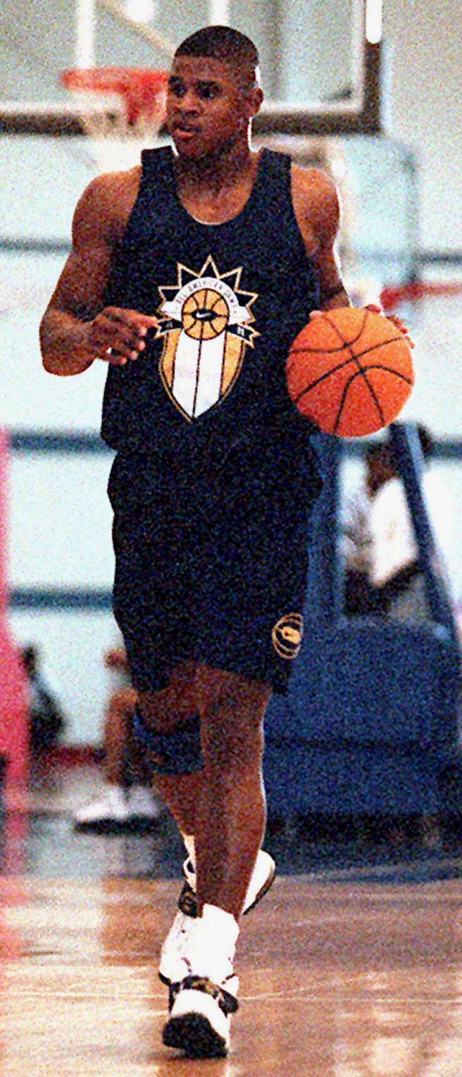 Schea Cotton, shown at a Nike camp in 1998, while in high school at St John Bosco (Photo: Chris Hall)