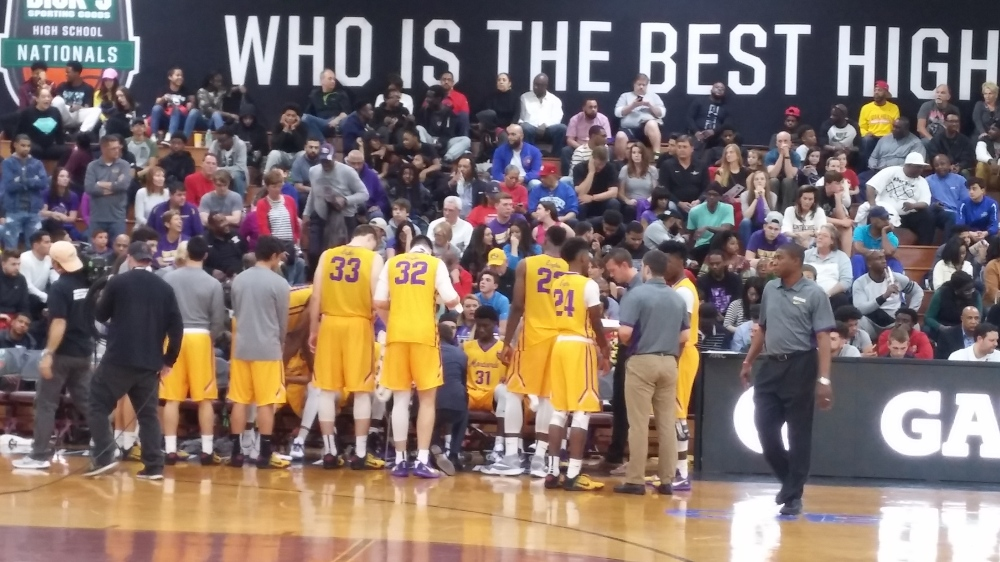 No. 2 Montverde (Montverde, Fla.) advanced with a 70-54 quarterfinal defeat of No. 14 Providence Day (Charlotte, N.C.) Thursday in the Dick's Sporting Goods High School Nationals.