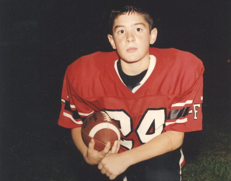 Patrick Risha as a youth football player (Photo: Patrick Risha CTE Awareness Foundation)