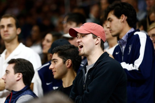 Expelled Yale basketball captain Jack Montague, a legend at Brentwood High in Tennessee, watches his former team's NCAA Tournament game in Providence (Photo: USA TODAY Sports Images)