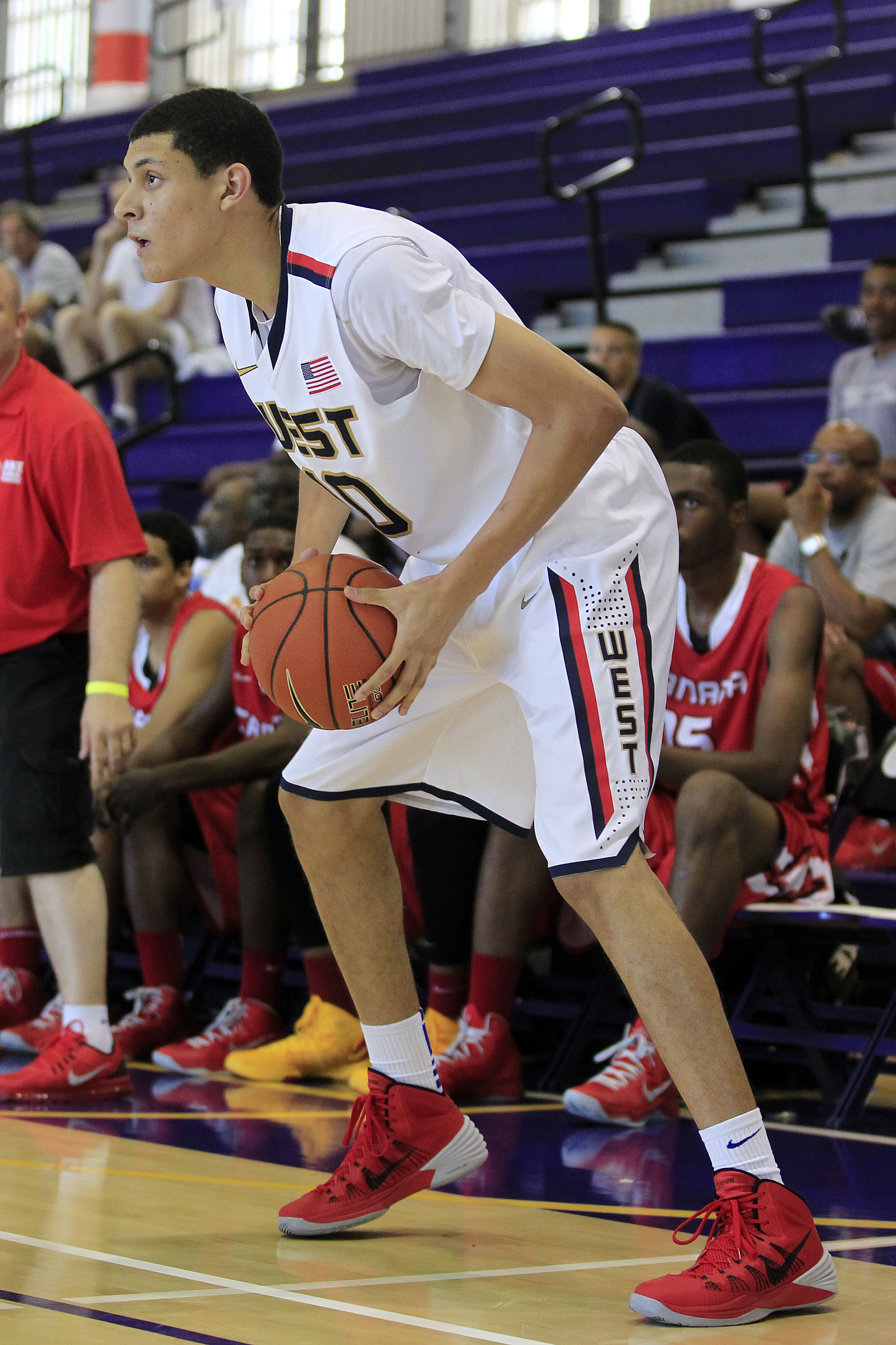 Justin Jackson, seen here playing for Team USA in an international high school tournament. (Geoff Burke-USA TODAY Sports)