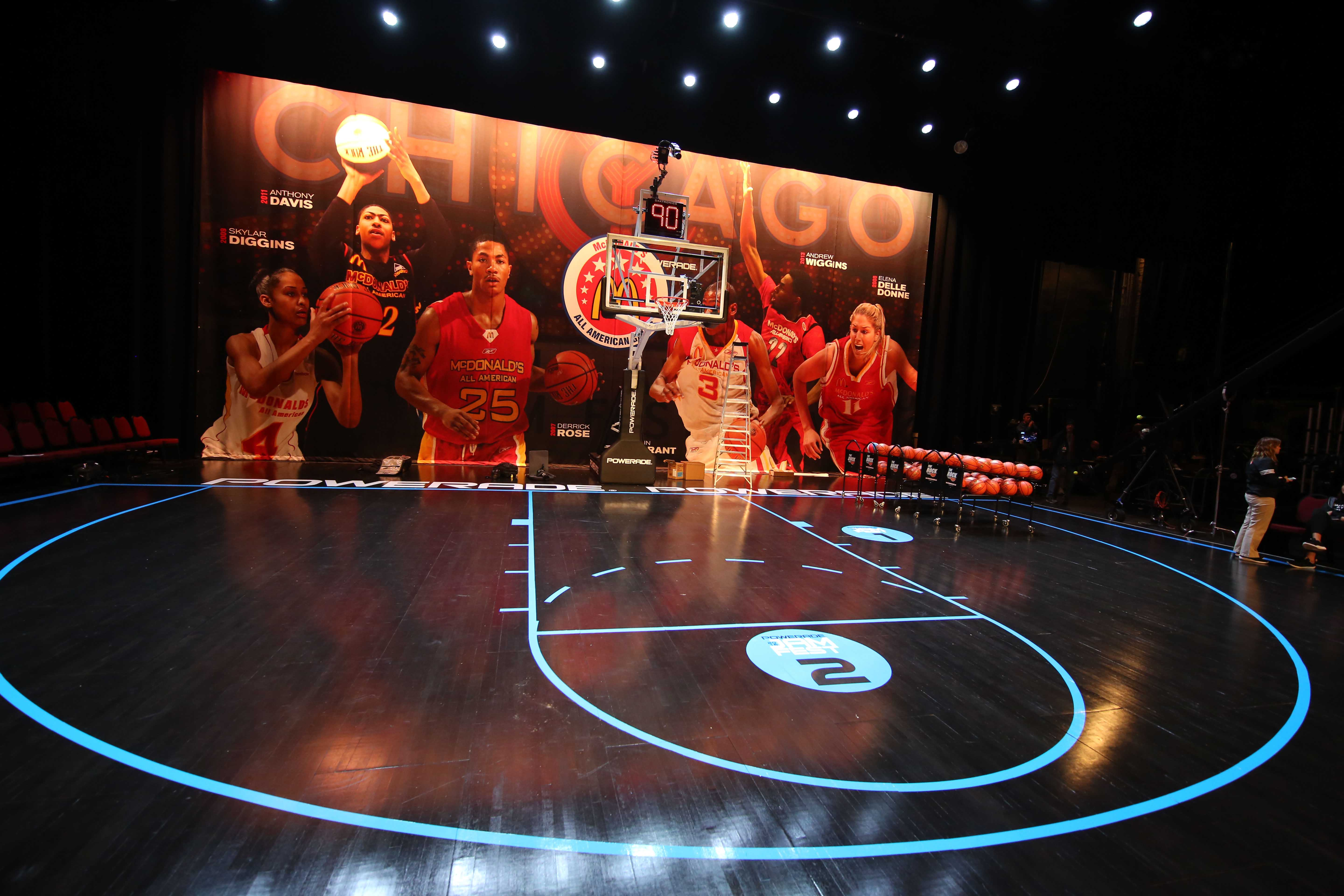Chicago Theatre was the setting for Powerade JamFest (Photo: Brian Spurlock, USA TODAY Sports)