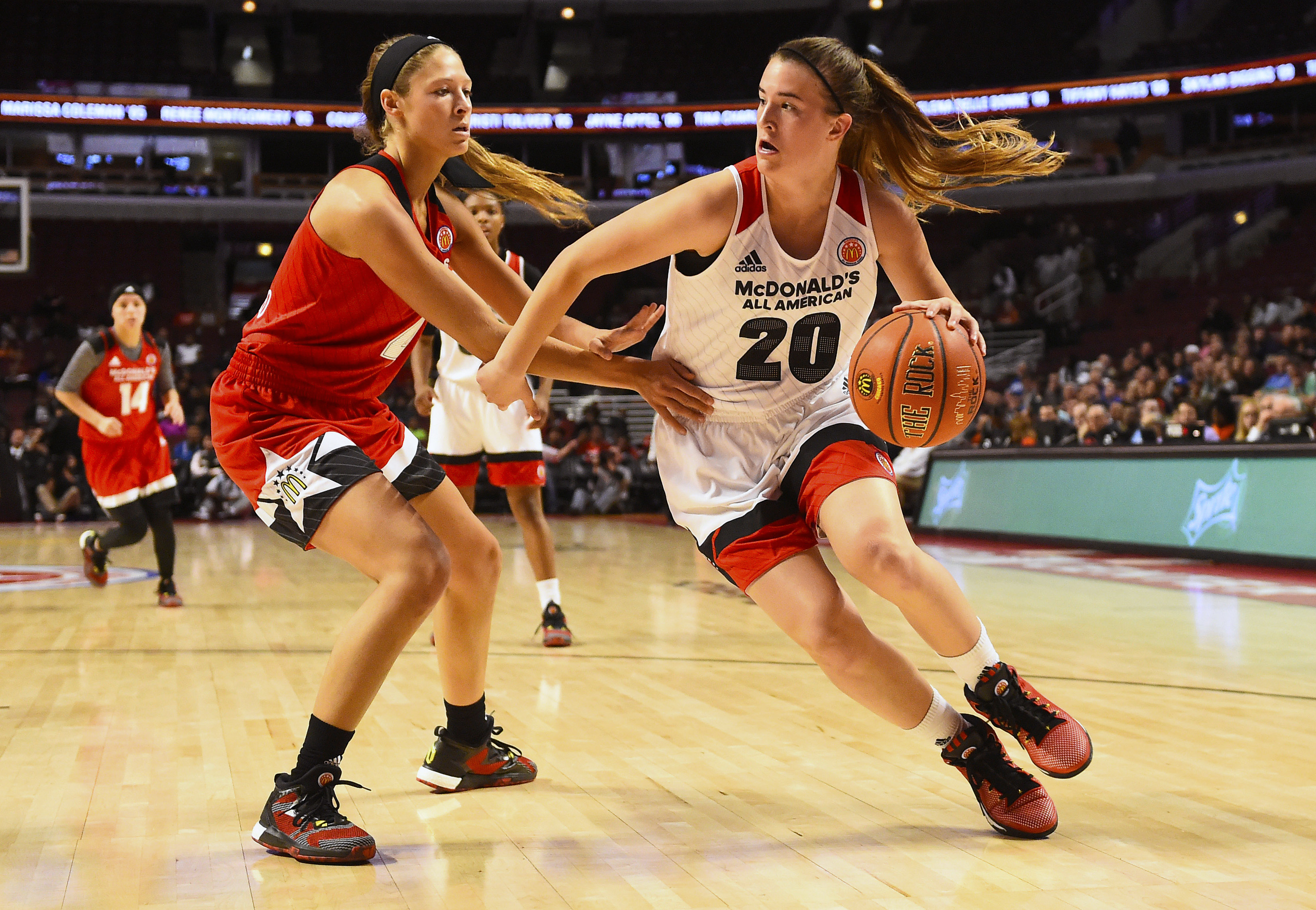 Sabrina Ionescu is the lone unsigned player in the girls game. (Photo: Mike DiNovo, USA TODAY Sports)