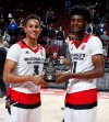 Frank Jackson (left) and Josh Jackson will compete in Saturday's Nike Hoop Summit. (Brian Spurlock, USA TODAY Sports)