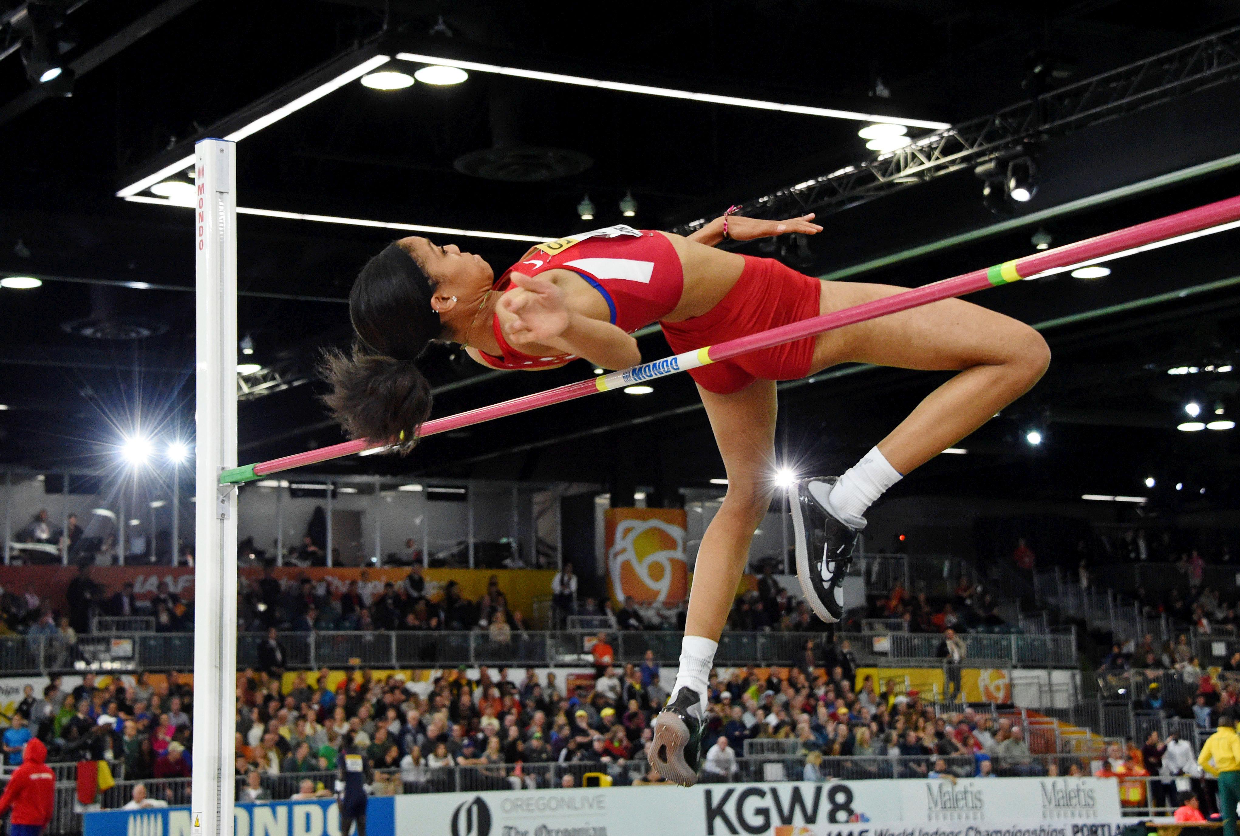 Vashti Cunningham wins the women's high jump at 6-5 (1.96m). (Photo: Kirby Lee, USA TODAY Sports)