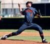 Huntington Beach pitcher Hagen Danner (Photo: Matt Masin, Orange County Register)